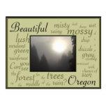 sol brumoso #2 de la mañana tarjetas postales
