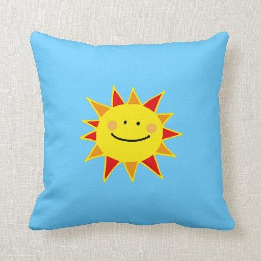 Sol caliente del verano almohada