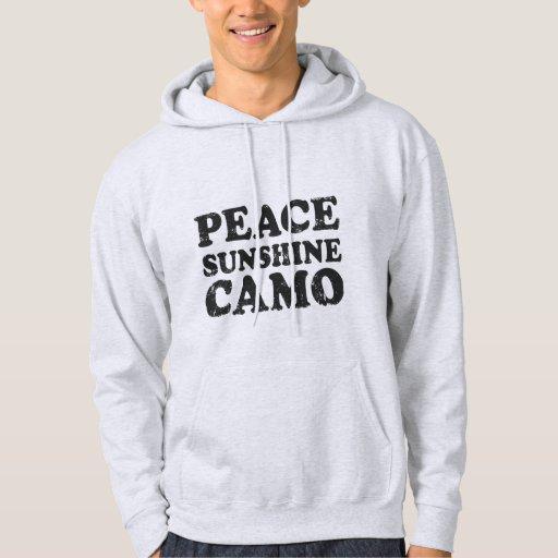 Sol Camo de la paz Sudadera