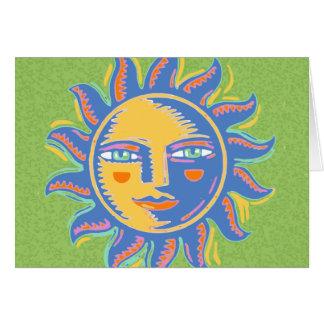 Sol colorida tarjeta de felicitación