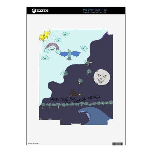 ¡sol contra la luna! calcomanía para iPad 2