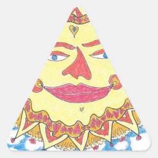 SOL CÓSMICO de Ruth I. Rubin Pegatina Triangular