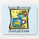 ¡Sol de la buena mañana! Alfombrilla De Ratones