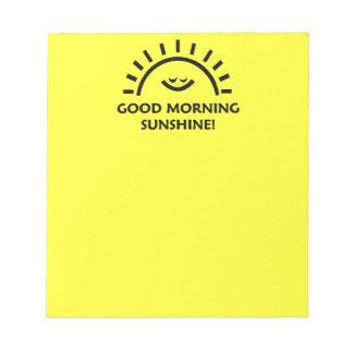 Sol de la buena mañana libreta para notas