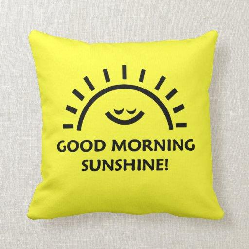 Sol de la buena mañana cojín