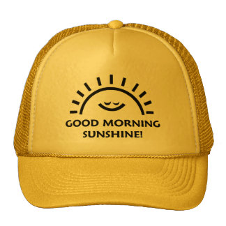 Sol de la buena mañana gorros