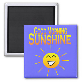 ¡Sol de la buena mañana! Iman De Nevera
