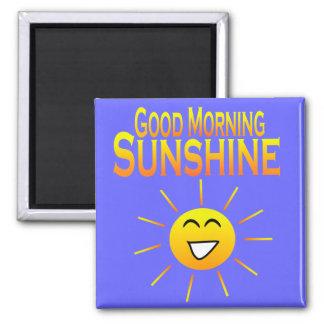 ¡Sol de la buena mañana! Imán Cuadrado