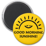 Sol de la buena mañana imán para frigorifico