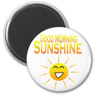 ¡Sol de la buena mañana! Imán Redondo 5 Cm
