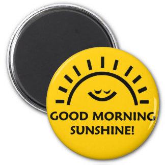 Sol de la buena mañana imán redondo 5 cm