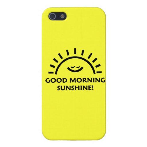 Sol de la buena mañana iPhone 5 fundas