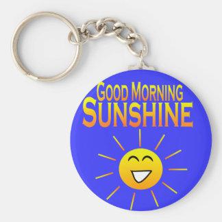 ¡Sol de la buena mañana! Llavero Redondo Tipo Pin