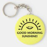 Sol de la buena mañana llavero redondo tipo pin