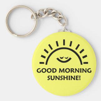 Sol de la buena mañana llaveros
