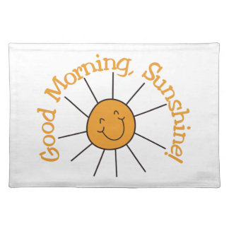 Sol de la buena mañana mantel individual