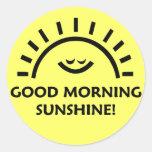 Sol de la buena mañana pegatinas