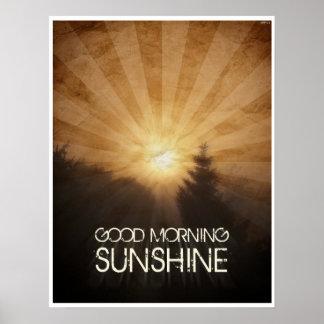 Sol de la buena mañana póster