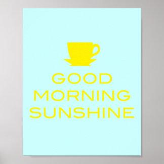 Sol de la buena mañana - poster cuadrado