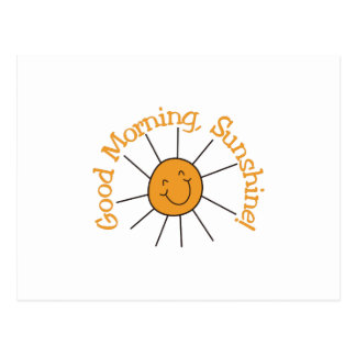 Sol de la buena mañana tarjeta postal