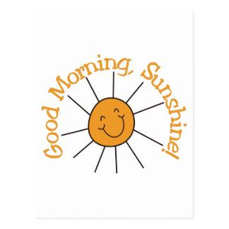 Sol de la buena mañana tarjetas postales