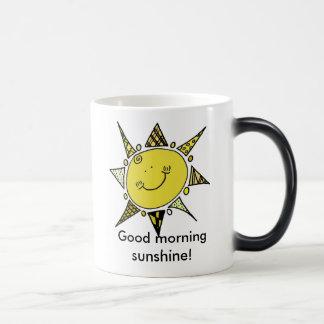 ¡Sol de la buena mañana! Taza De Café