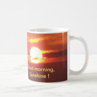 Sol de la buena mañana taza