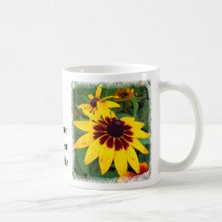 Sol de la buena mañana taza básica blanca