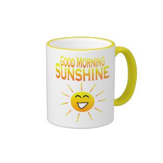 ¡Sol de la buena mañana! Tazas De Café