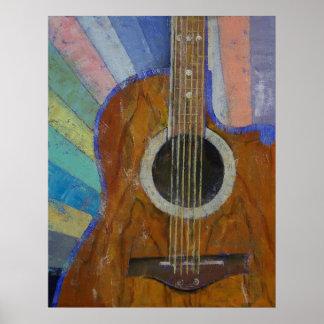 Sol de la guitarra póster