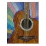 Sol de la guitarra tarjetas postales