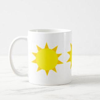 Sol de la mañana taza básica blanca