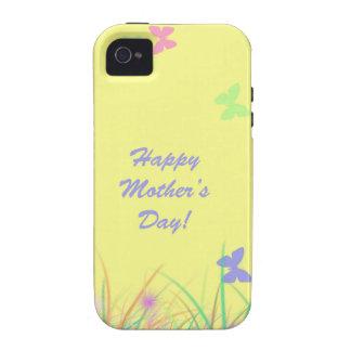 Sol de la mariposa del día de madre vibe iPhone 4 fundas