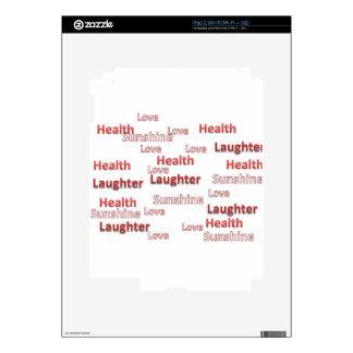 sol de la risa de la salud del amor calcomanía para iPad 2