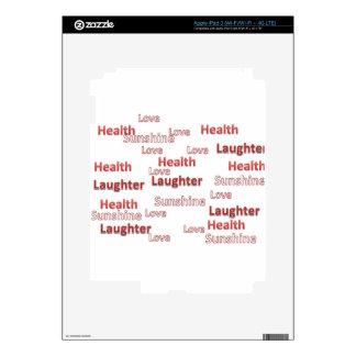 sol de la risa de la salud del amor iPad 3 skins