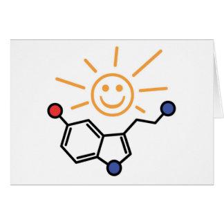Sol de la serotonina - la felicidad es química tarjeta de felicitación