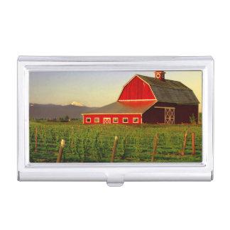 Sol de la tarde en un granero en Skagit de Caja De Tarjetas De Visita