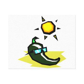 Sol de las gafas de sol de la pimienta verde en be impresion en lona