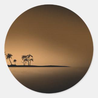 SOL DE ORO de la ISLA de PALMA Etiqueta Redonda