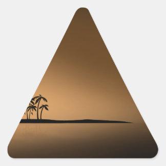 SOL DE ORO de la ISLA de PALMA Pegatina Trianguladas Personalizadas