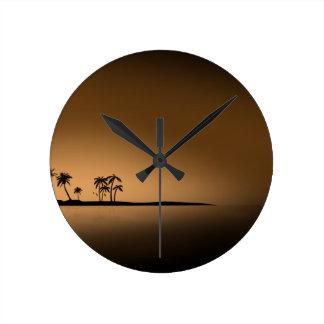 SOL DE ORO de la ISLA de PALMA Reloj Redondo Mediano