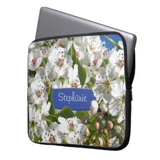 Sol de Sping de la flor blanca Mangas Computadora