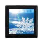 sol del copo de nieve caja de joyas