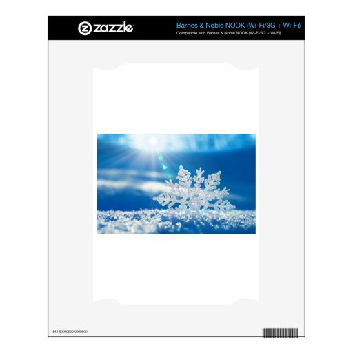 sol del copo de nieve skin para el NOOK