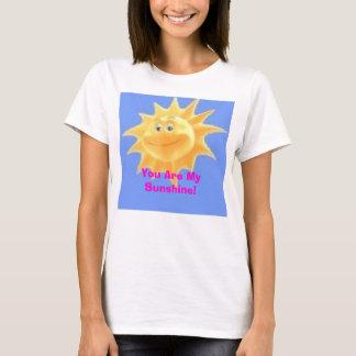 ¡sol del dibujo animado, usted es mi sol! playera