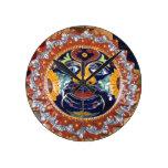 Sol del estilo de Talavera del mexicano Reloj De Pared