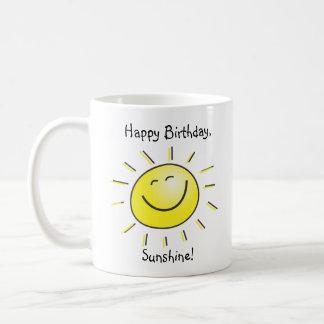 Sol del feliz cumpleaños tazas