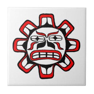 Sol del Haida Azulejo Cuadrado Pequeño