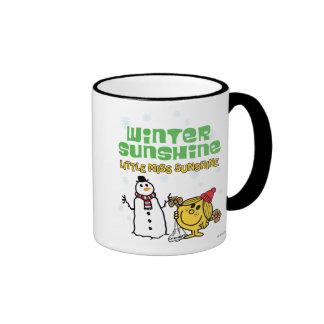 Sol del invierno taza de dos colores