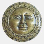 Sol del metal pegatina redonda